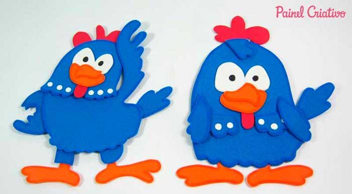 molde galinha eva pintadinha festa aniversario lembrancinha (9)