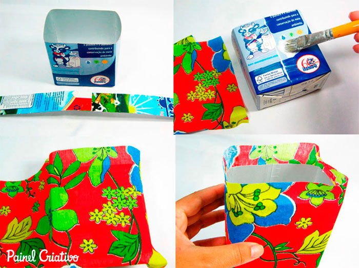 passo a passo lembrancinha festa junina cestinha porta guloseimas reciclagem caixinha leite chita (3)