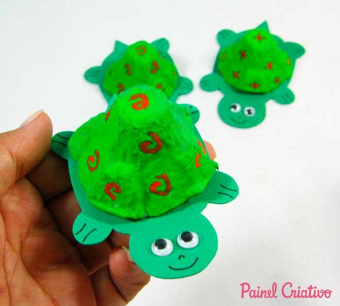 reciclagem bichinhos tartaruga atividades escolares crianca (1)