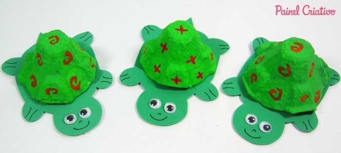 reciclagem bichinhos tartaruga atividades escolares crianca (2)
