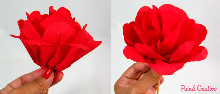 como fazer flor papel crepom deoracao casa festa junina aniversario  (3)