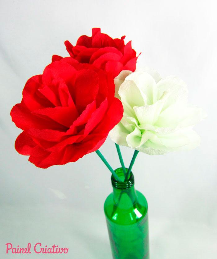 como fazer flor papel crepom deoracao casa festa junina aniversario  (6)