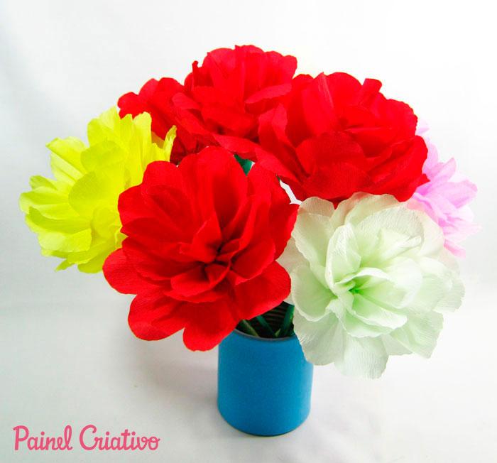 como fazer flor papel crepom deoracao casa festa junina aniversario  (7)