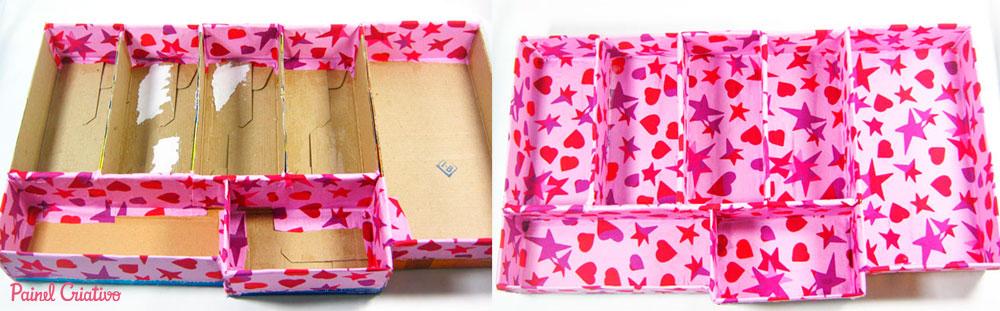 como fazer organizador gaveta escritorio atelie reciclado caixinha leite embalagem papelao (2)