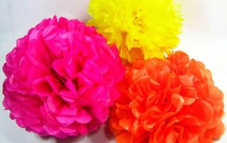 como fazer pompons papel de seda decoracao festa aniversario casamento batizado (4)