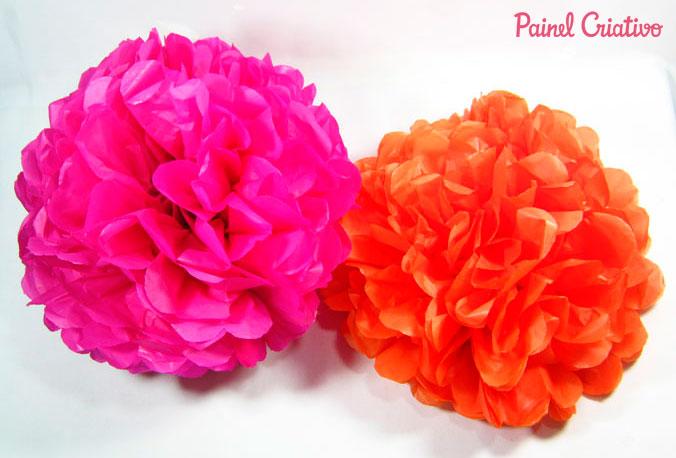 como fazer pompons papel de seda decoracao festa aniversario casamento batizado (5)