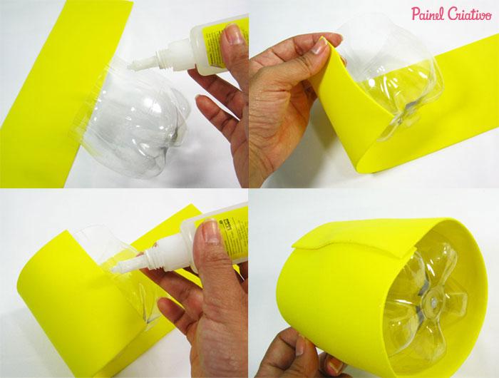 passo a passo lembrancinha abelhinha eva porta guloseimas reciclagem garrafa pet aniversario dia das criancas escola (1)