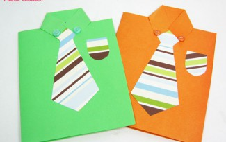 como fazer cartao papel gravata dia dos pais (4)