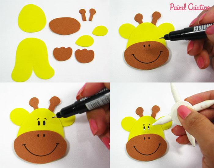 Porta Guardanapo dos Bichinhos em EVA | Painel Criativo