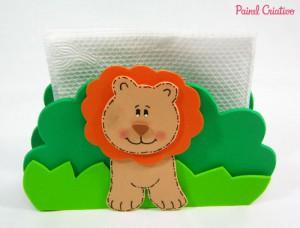 como fazer porta guardanapo festa aniversario bichinhos floresta safari eva leao (3)