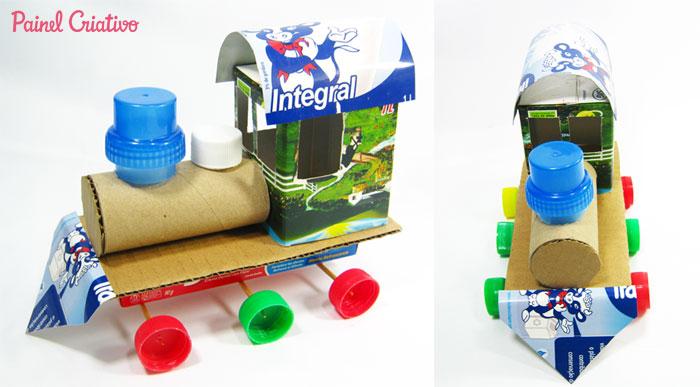 como fazer trenzinho reciclado criancas (3)