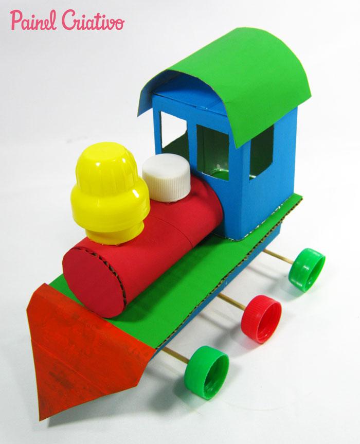 como fazer trenzinho reciclado criancas (4)