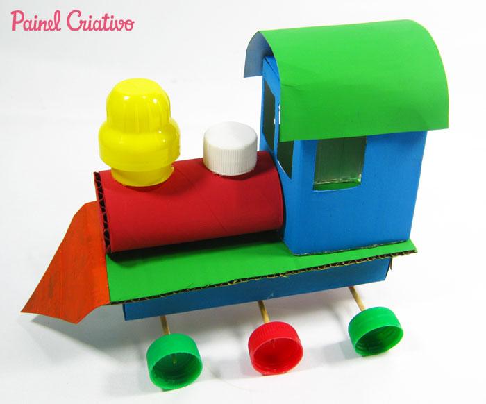 como fazer trenzinho reciclado criancas (5)