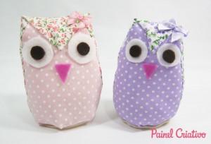 como fazer peso porta corujinha tecido  decoracao casa (7)