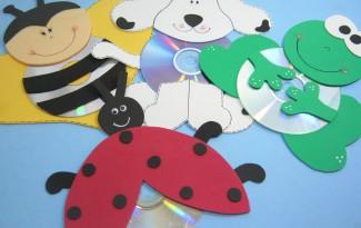 como fazer bichinhos cachorrinho abelhinha sapinho joaninha eva cd usado reciclagem (10)