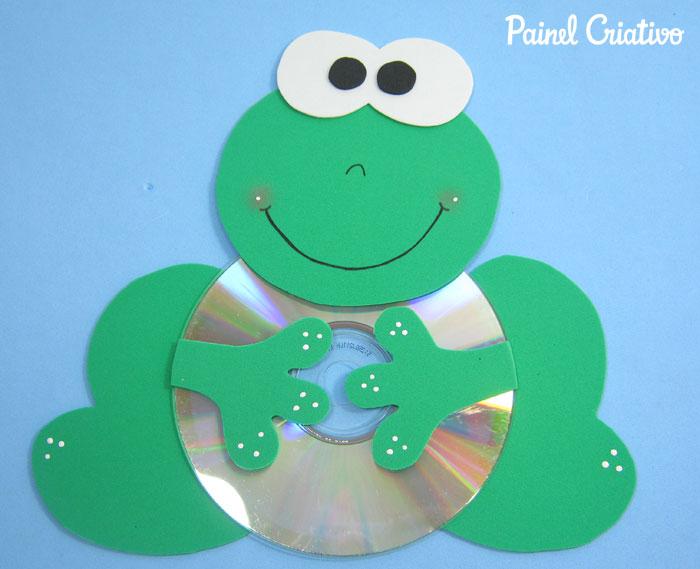 como fazer bichinhos cachorrinho abelhinha sapinho joaninha eva cd usado reciclagem (3)