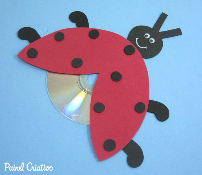 como fazer bichinhos cachorrinho abelhinha sapinho joaninha eva cd usado reciclagem (4)