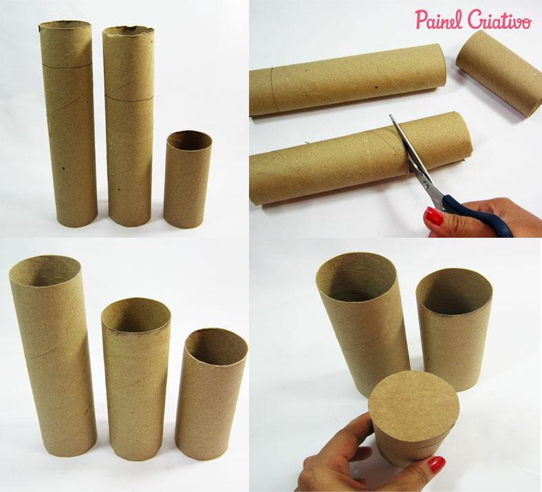 como fazer porta lapis tubo papel aluminio toalha rolinho papel higienico (1)
