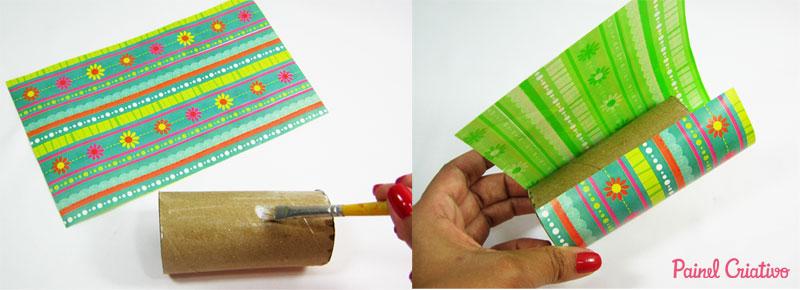 como fazer porta lapis tubo papel aluminio toalha rolinho papel higienico (2)