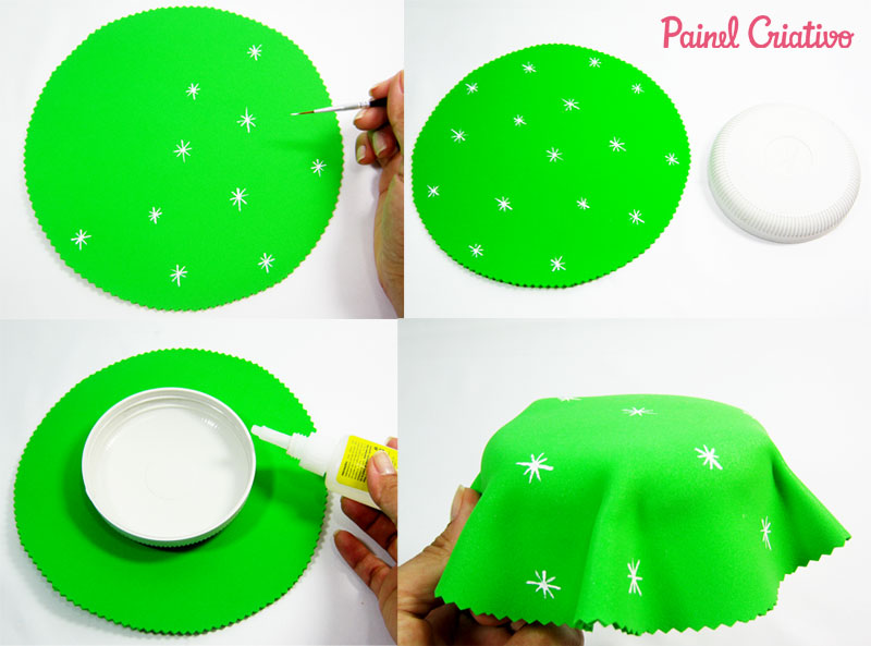 como fazer pote vidro decorado natal reciclagem eva papai noel rena boneco de neve (5)