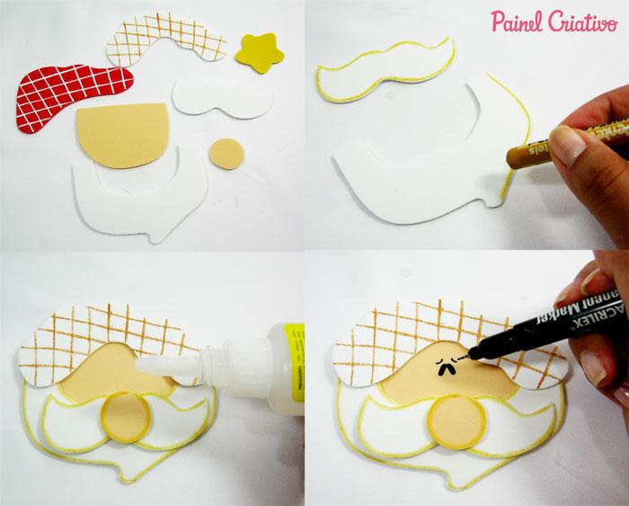 como fazer pote vidro decorado natal reciclagem eva papai noel rena boneco de neve (6)