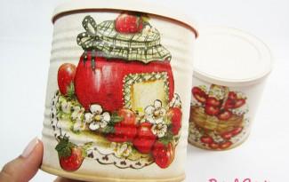 como fazer decoupage latinha decoracao cozinha reciclagem (5)