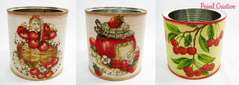 como fazer decoupage latinha decoracao cozinha reciclagem (8)