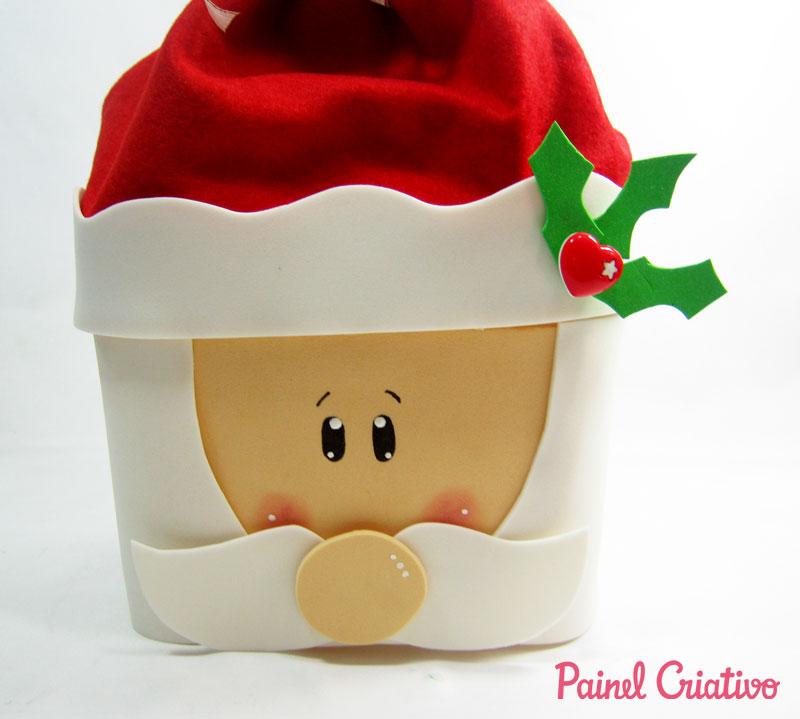 como fazer papai noel pote sorvete lembrancinha decoracao natal (2)