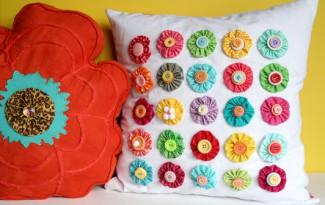 como fazer almofada fuxico decoracao casa  (1)