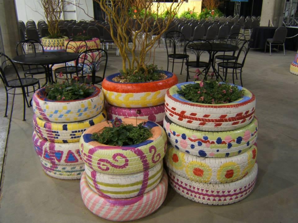 como reaproveitar pneu velho decoracao casa jardim (4)