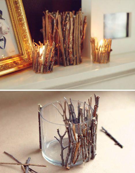 decoracao porta velas rustico  decorado casa jantar romantico (5)