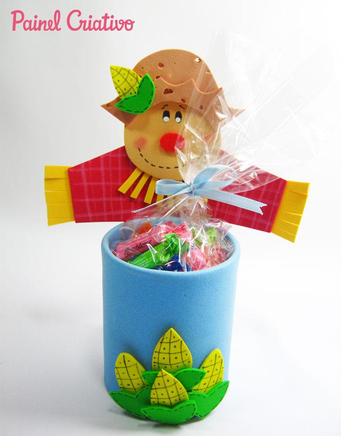 Como Fazer lembrancinha festa junina aniversario porta Guloseimas criancas espantalho eva (3)