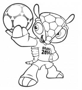 desenhos colorir copa do mundo brasil mascote fuleco (1)