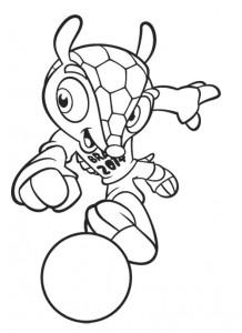 desenhos colorir copa do mundo brasil mascote fuleco (2)
