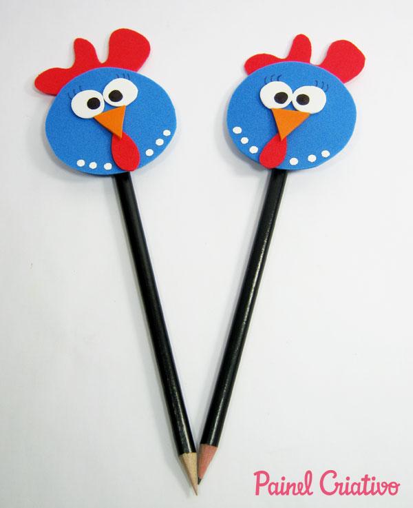 modelo lembrancinha galinha pintadinha ponteira lapis eva festa aniversario crianca (7)