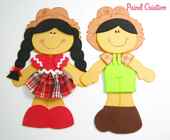 molde casal caipira eva decoracao painel festa junina (3)