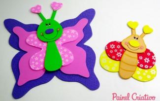como fazer borboleta eva decoracoa sala de aula paineis lembrancinha escola festa infantil (5)