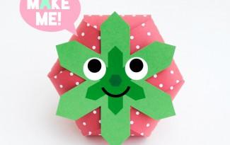 como fazer caixinha formato moranguinho festa aniversario lembrancinha criancas (1)