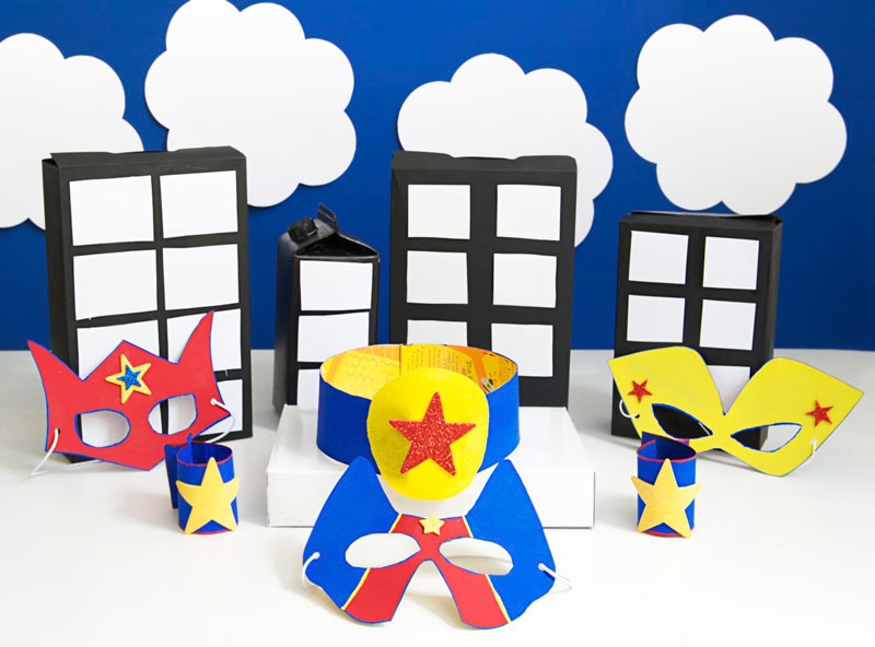 como fazer mascara super heroi caixa cereal papaelao criancas reciclagem (1)