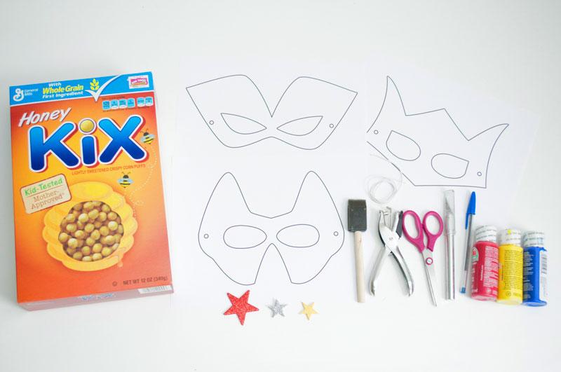 como fazer mascara super heroi caixa cereal papaelao criancas reciclagem (5)