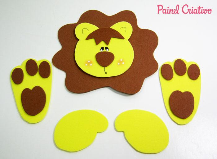 como fazer porta retrato leaozinho eva decoracao quarto menino safari maternidade (6)
