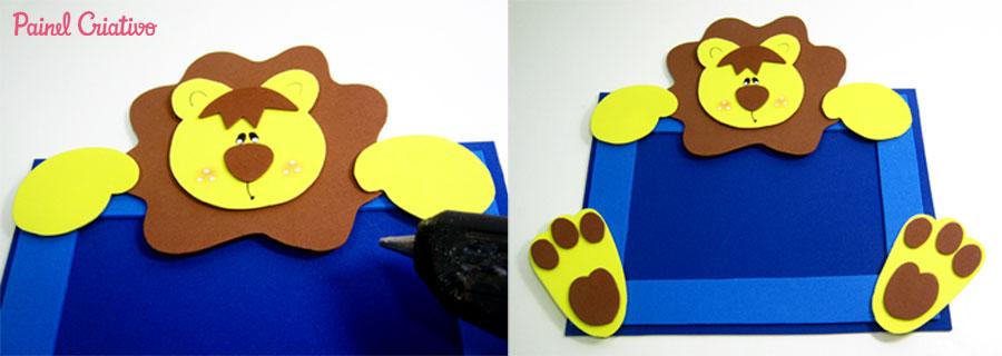 como fazer porta retrato leaozinho eva decoracao quarto menino safari maternidade (8)
