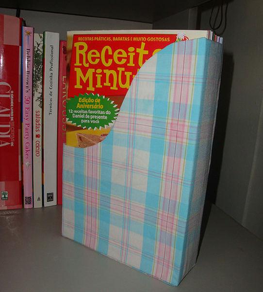 como fazer porta revistas caixa cereal reciclagem (2)