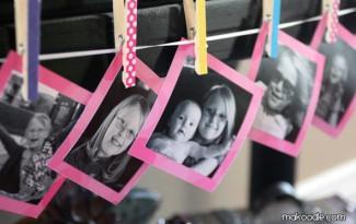ideia decoracao pregador de  roupa casa mural fotos familia
