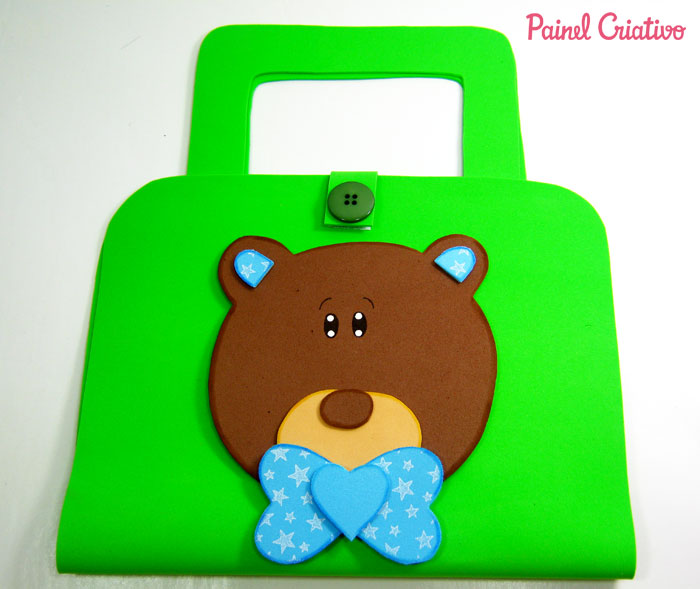 modelo lembrancinha bolsinha kit escolar eva ursinho criancas (1)