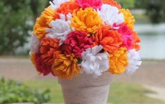 passo a passo arranjo flores feltro decoracao casa festa aniversario cha de bebe  casamento batizado (6)