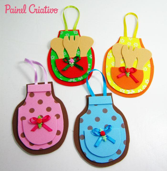 como fazer lembrancinha cha de cozinha panela eva mini avental ima de geladeira (2)