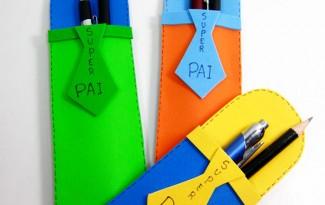 como fazer lembrancinha dia dos pais porta canetas eva escola  (2)