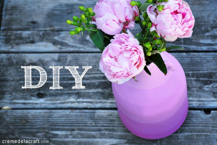 como fazer vaso de flore garrafa de vidro pintura degrade reciclagem decoracao casa (1)