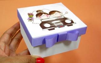 como fazer lembrancinha casamento caixinha mdf porta bombom decoupage (4)